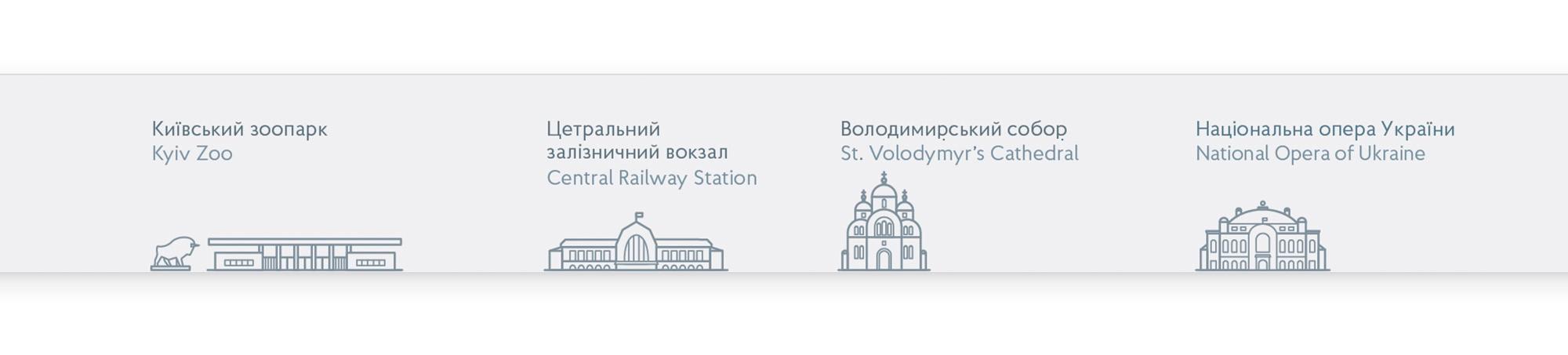 Пам'ятки біля станцій