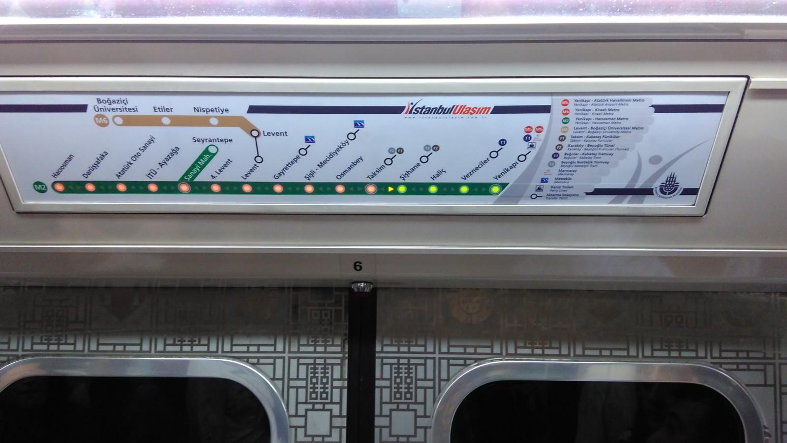 Лінійна схема у метро Стамбула